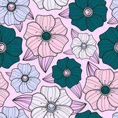 无缝的花卉图案 — 图库照片