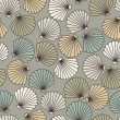 Abstract shells seamless pattern - Stock Vector