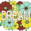 Dream. Floral illustration - Stock Vector