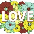 Love. Floral illustration - Stock Vector