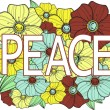 Peace. Floral illustration - Stock Vector
