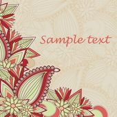 Beautuful paisley background — Vector de stock