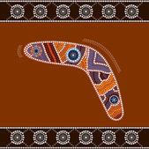 Uma ilustração baseada no estilo aborígene do ponto depicti de pintura — Fotografia Stock