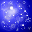 Winter background with stars and snowflakes — Stock Photo