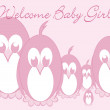 Welcome Baby - Penguin girl - Stock Photo