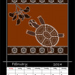 Stock Photo: Calender based on aboriginal style of dot painting depicting t