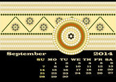 A calender based on aboriginal style of dot painting — Stock Photo