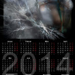 Illustration of a german calendar 2014 week starts on Monday — Stock Photo