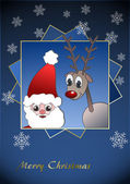 Santa Claus & Reindeer — Stock Photo