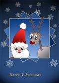 Santa Claus & Reindeer — Stock Photo