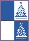 Feliz navidad - árbol de navidad con decoración — Vector de stock