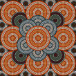 A illustration based on aboriginal style of dot painting depicti — Stock Photo #40715501