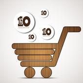 Vector concept shopping background. Eps 10 — Stock Vector