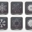Vector snowflake app icon set. Eps 10 — Stock Vector