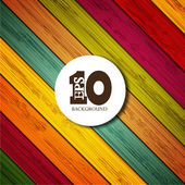 Vector colorful wooden background with place for your text. Eps 10 — Cтоковый вектор