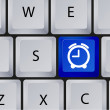 Vector clock icon on keyboard. Eps 10 — Stock vektor #12647184