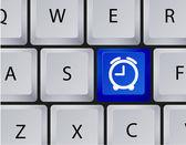 Icono de reloj de vector en el teclado. eps 10 — Vector de stock