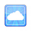 Vector version. Cloud icon. Eps 10 illustration — Stock Vector