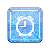 Vector versie. pictogram van de klok. eps-10 illustratie — Stockvector