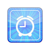 Vector version. Clock icon. Eps 10 illustration — Stock Vector