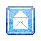 Vector version. Mail icon. Eps 10 illustration — Stock Vector