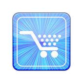 Vector version. Shopping icon. Eps 10 illustration — Stock Vector