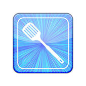 Vector version. slotted kitchen spoon icon. Eps 10 illustration — Stock Vector