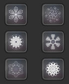 Vector version. Snowflake icons set. Eps 10 illustration. Easy to edit — Stock Vector