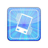 Vector version. Vibration icon. Eps 10 illustration — Stock Vector