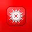 Vector red Snowflake icon. Eps10. Easy to edit — Vektorgrafik