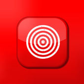 Vector red darts icon. Eps10. Easy to edit — Stock Vector