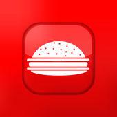 ベクトルのバージョンです。ハンバーガーのアイコン。eps 10 の図。簡単に編集するには — ストックベクタ