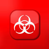 Vector red radiation icon. Eps10. Easy to edit — Stock Vector