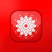 Vector red Snowflake icon. Eps10. Easy to edit — Stock Vector