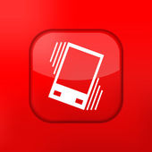 Vector red Vibration icon. Eps10. Easy to edit — Stock Vector