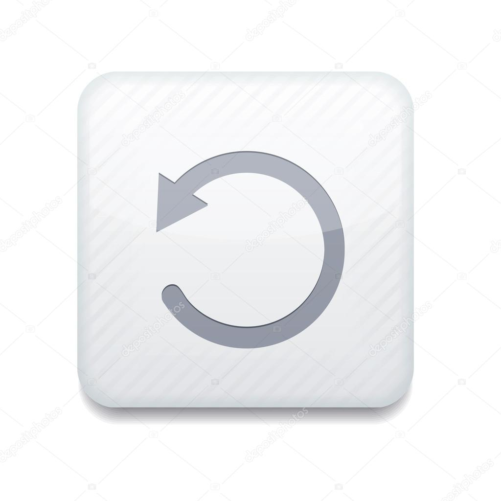 Vector white repeat icon. Eps10. Easy to edit — Stock ...
