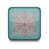 Vector Snowflake icon. Eps10. Easy to edit — Stock Vector