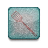 Vector slotted kitchen spoon icon. Eps10. Easy to edit — Stock Vector