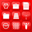 Royalty-Free Stock Vector Image: Vector red business app icon set. Eps10