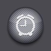 Vektorový kruh prokládané ikonu aplikace na šedém pozadí. eps 10 — Stock vektor