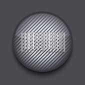 ベクトルのアプリは、灰色の背景上のストライプのアイコンを円。eps 10 — ストックベクタ