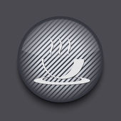 Vector app circle striped icon on gray background. Eps 10 — Vector de stock
