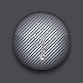 Vector app circle striped icon on gray background. Eps 10 — Stock Vector