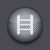 Icono de vector app círculo rayas sobre fondo gris. eps 10 — Vector de stock