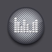 Vector app circle striped icon on gray background. Eps10 — Stock Vector