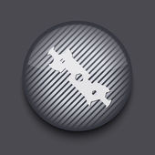 Vector app cirkel gestreepte pictogram op grijze achtergrond. eps 10 — Stockvector