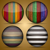 Vector creative circle app set on briwn background. Eps10 — Vector de stock