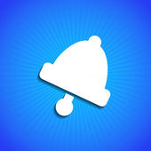 Vector icon on blue background. Eps10 — Cтоковый вектор
