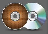 矢量磁盘上的灰色背景。eps10 — 图库矢量图片