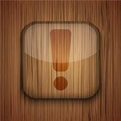 Vektor trä app ikon på trä bakgrund. eps10 — Stockvektor
